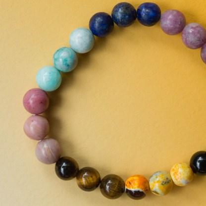 Chakra Crystal Bracelet   Golden Blue