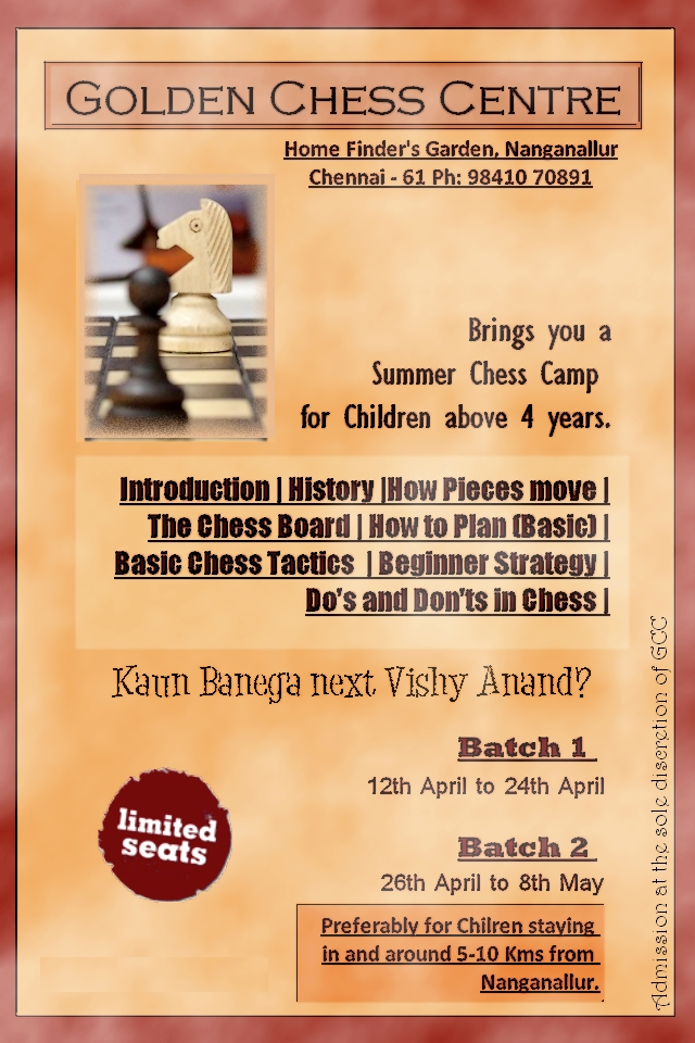 Summer Introductory Chess Classes
