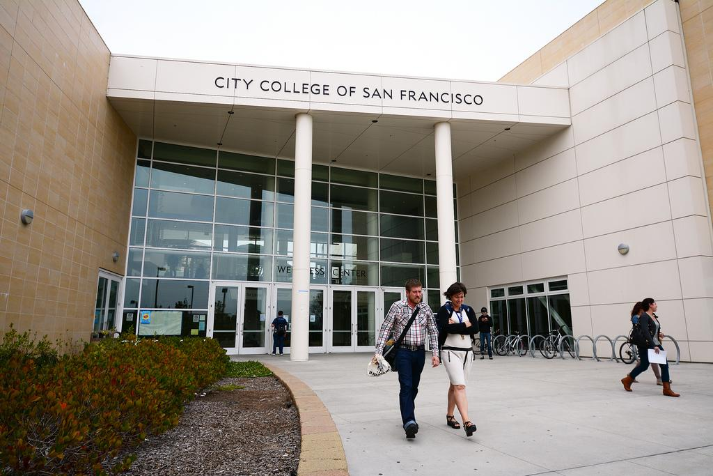 Students walk out of the Wellness Center at the Ingleside City College of San Francisco campus on Monday, August 19, 2013, in San Francisco, Calif. Photo by Philip Houston / Xpress