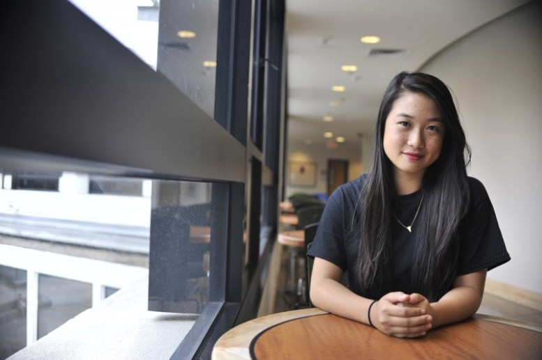 """Design and Industry student Caroline Nguyen started filming her documentary """"Not In My Neighborhood"""" this week with the help of mentor Cynthia Biret. Tuesday, Aug 23, 2014. Sara Gobets / Xpress."""