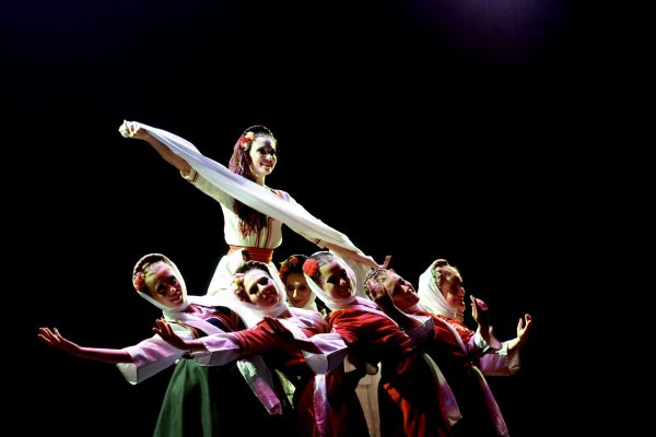 Talija Art Co. performs mesmerizing Serbian dances under the direction of their CEO and art director Dragan Pantelić, in the McKenna Theatre at SF State Friday, Oct. 10, 2014. Amanda Peterson / Xpress.