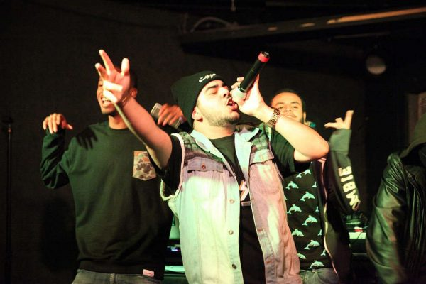 Element performs with his crew at The Depot on Thursday, Oct. 29, 2014. Lorisa Salvatin/Xpress.