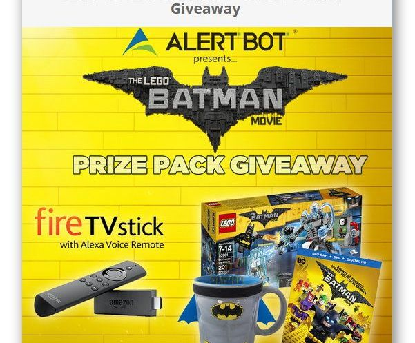 AlertBot Fire TV Stick and LEGO Batman Movie Giveaway