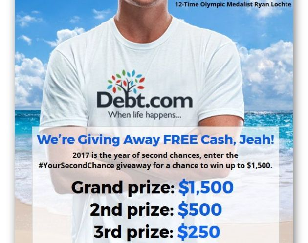 Debt.com Summer Cash Splash Sweepstakes