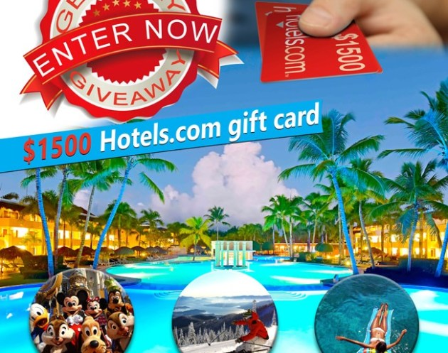 $1,500 Hotels.com Gift Card Giveaway