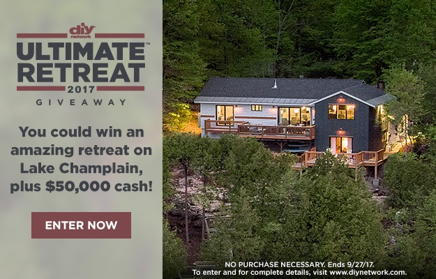 DIY Network Ultimate Retreat Giveaway 2017