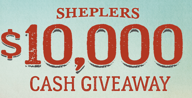 Sheplers - $10,000 Cash Giveaway Sweepstakes – Ends October 31st