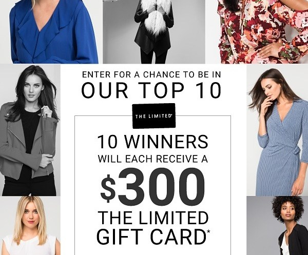 The Limited.com $300 Gift Card Sweepstakes