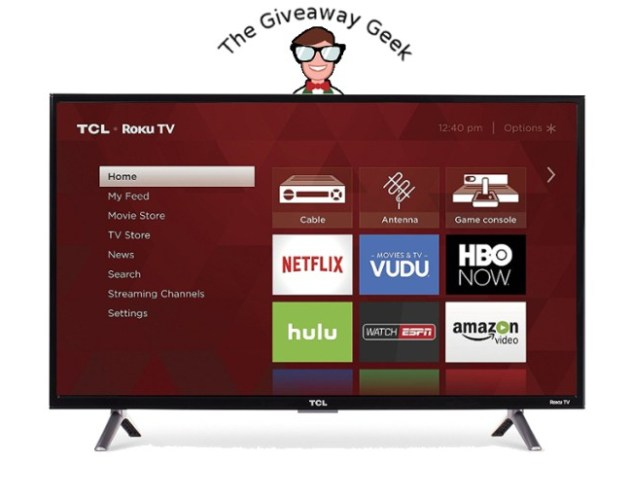 Giveaway Geek - Roku Smart LED TV Giveaway
