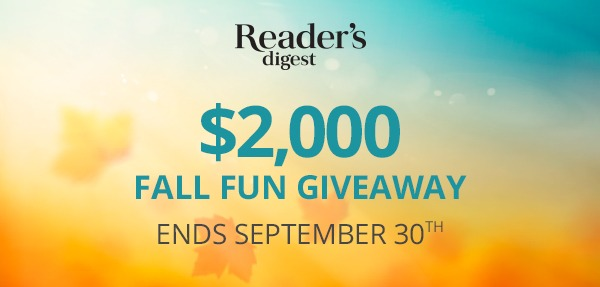 Reader's Digest Fall Fun $2,000 Giveaway