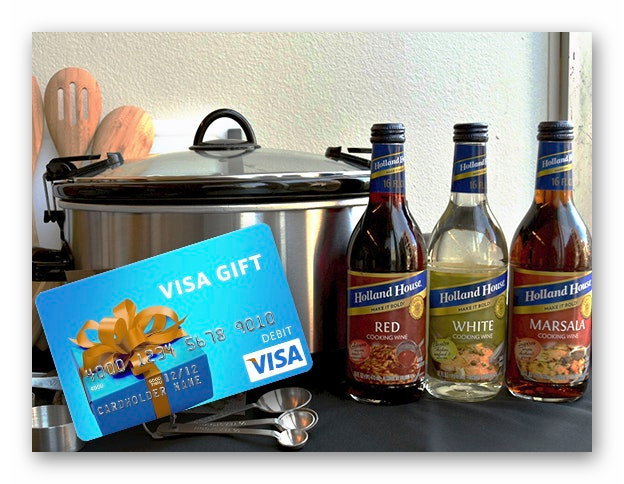 Win Holland House Cooking Wines & $100 Visa Gift Card