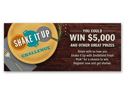 Smithfield Shake it Up Challenge Sweepstakes