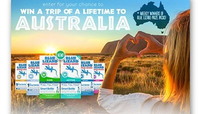 Blue Lizard Win a Family Trip to Australia