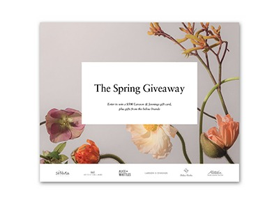 Win $1,800 in Gift Cards in the Spring Giveaway