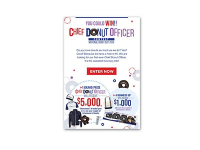 Entenmann's Chief Donut Officer Sweepstakes