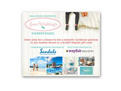Hallmark June Wedding Sweepstakes