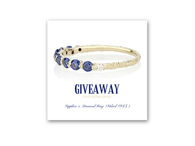 Win a Custom Made Sapphire and Diamond Ring
