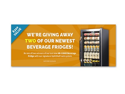 Win a Free 126-Can Beverage Fridge
