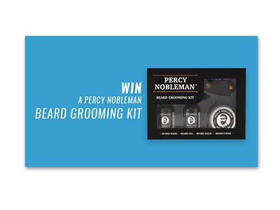 Percy Nobleman Beard Grooming Kit Giveaway