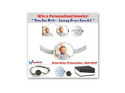 Win a Personalized Charm Bracelet
