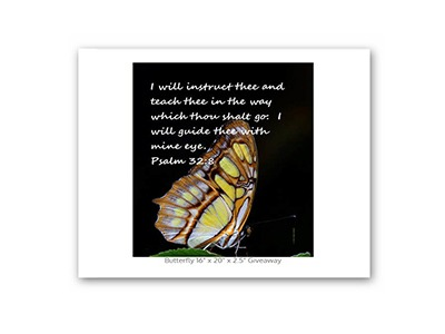 Win Psalms Butterfly Canvas Art