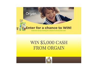 Orgain Kids Cash Giveaway