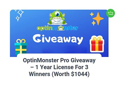 OptinMonster Pro Giveaway