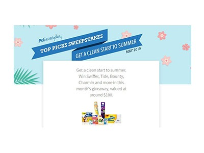 P&G Top Picks Sweepstakes