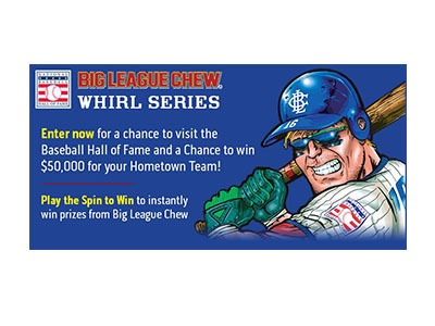 Big League Chew Instant Win Sweepstakes