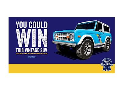 Win a Pabst Vintage SUV