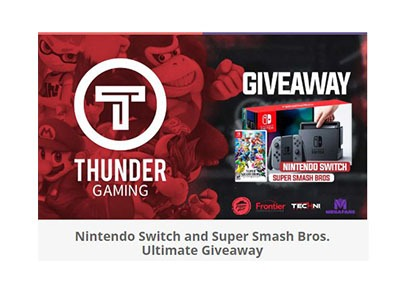 Nintendo Switch Super Smash Bros Bundle Giveaway