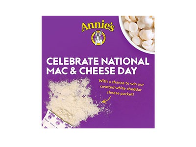 Annie's Mac n Cheeses Day Giveaway