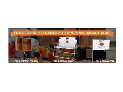 Tito's Tailgating Sweepstakes