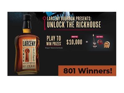 Larceny Bourbon Instant Win Game