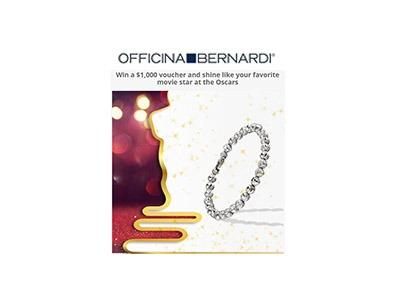 Officina Bernardi's $1,000 Shopping Spree Sweepstakes