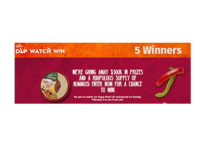 Sabra Dip Watch Win Cash Sweepstakes
