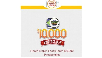 Easy Home Meals Frozen Food Month Sweepstakes