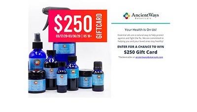 Win a $250 Ancient Ways Botanicals Gift Card