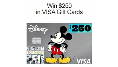 Top Disney $250 VISA Card Giveaway