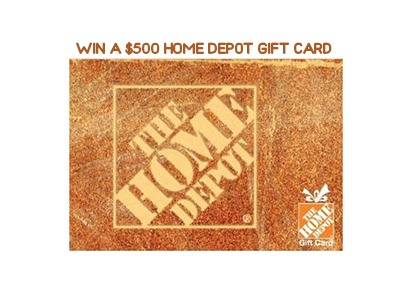Win a $500 Home Depot Gift Card