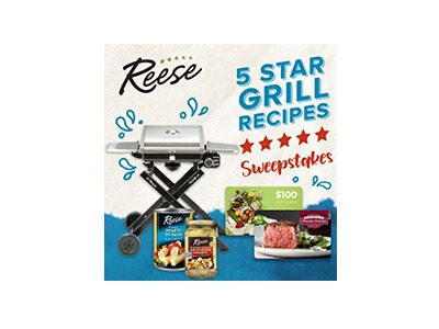 Reese Grill 5 Star Recipes Sweepstakes