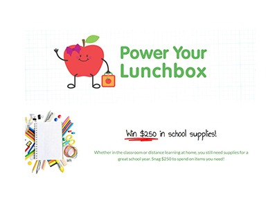 Produce for Kids Power Your Lunchbox 2020 Sweepstakes