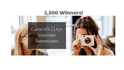 Canon IVY CLIQ+ September Sweepstakes