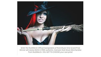 RockMerch Witches Rock Sweepstakes