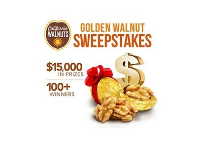 California Walnuts Golden Walnut Sweepstakes
