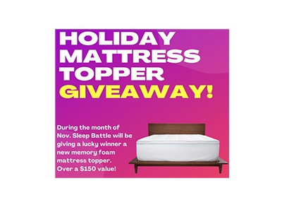 Holiday Memory Foam Mattress Topper Giveaway