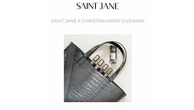 SAINT JANE X CHRISTINA KARIN GIVEAWAY