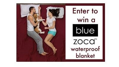 Blue Zoca Waterproof Blanket Giveaway