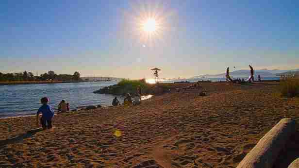 sunset beach vancouver british columbia