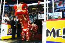 jing wo lion dance calgary 2014 chinese new year saddledome hitmen hockey